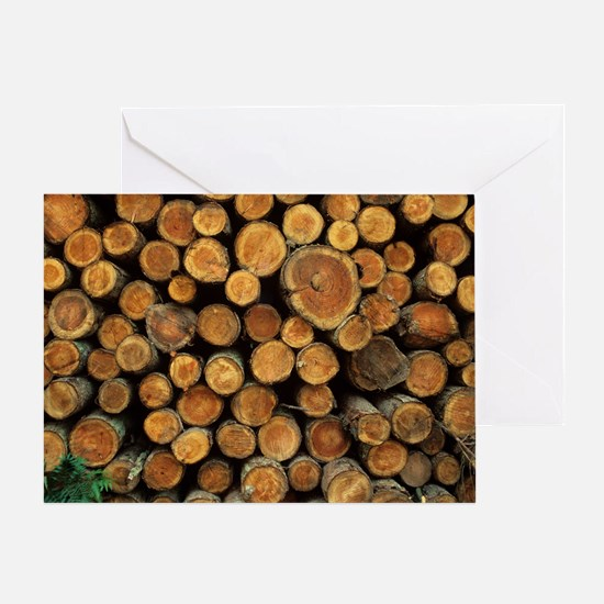 Logs Greeting Card