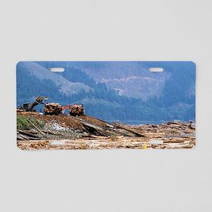 Logging, Canada Aluminum License Plate
