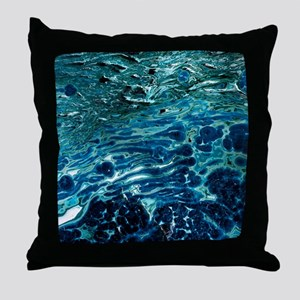 Malachite and chrysocolla minerals Throw Pillow