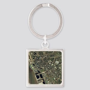 Liverpool, UK, aerial image Square Keychain