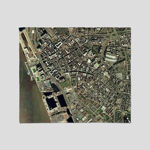Liverpool, UK, aerial image Throw Blanket
