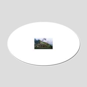 Machu Picchu 20x12 Oval Wall Decal