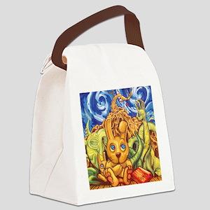 Rabbit nightmare Canvas Lunch Bag