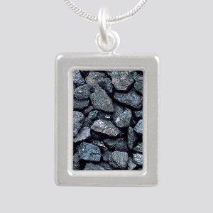 Lumps of high-grade anth Silver Portrait Necklace