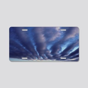 Long streaks of stratocumul Aluminum License Plate