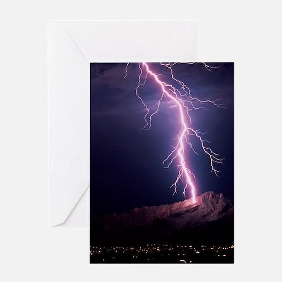 Lightning over Tucson Greeting Card