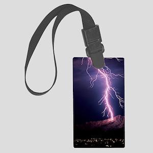 Lightning over Tucson Large Luggage Tag