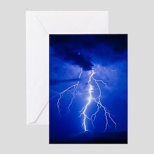 Lightning in Arizona Greeting Card