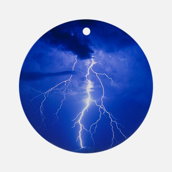 Lightning in Arizona Round Ornament
