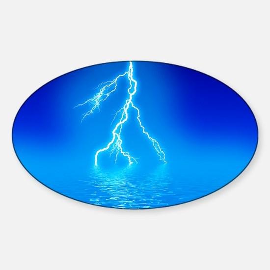 Lightning Sticker (Oval)