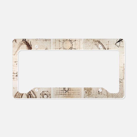 Leonardo's designs for Milan  License Plate Holder