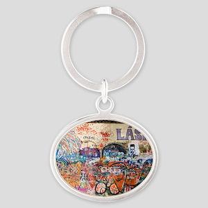 Lennon Wall, Prague Oval Keychain