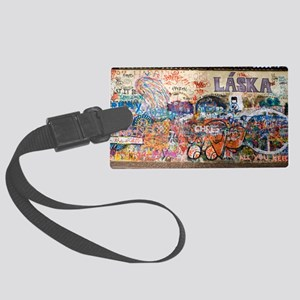 Lennon Wall, Prague Large Luggage Tag