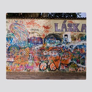 Lennon Wall, Prague Throw Blanket