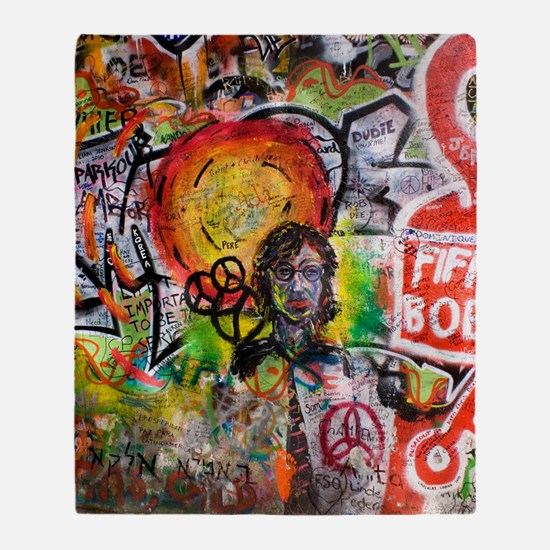 Lennon Wall, Prague Throw Blanket