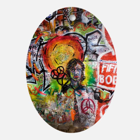 Lennon Wall, Prague Oval Ornament