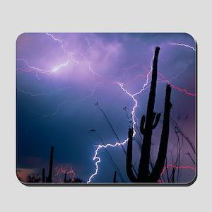 Lightning storm over Tucson, Arizona Mousepad