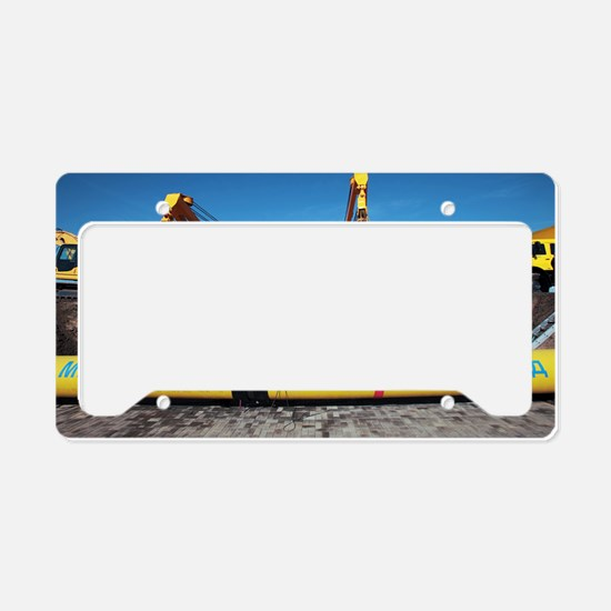 Laying a gas pipeline License Plate Holder