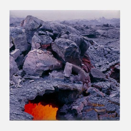 Lava tube, Kilauea volcano, Hawaii Tile Coaster