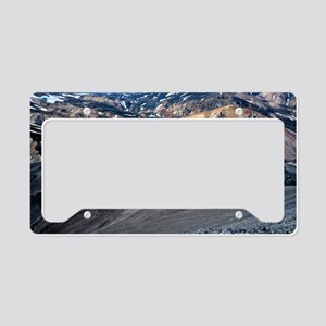 Lava landscape License Plate Holder