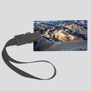 Lava landscape Large Luggage Tag
