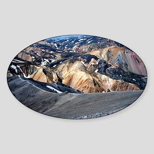 Lava landscape Sticker (Oval)