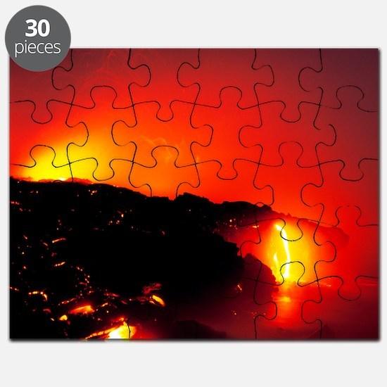Lava flows Puzzle