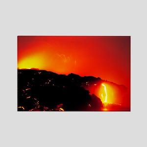 Lava flows Rectangle Magnet