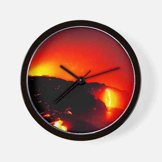 Lava flows Wall Clock