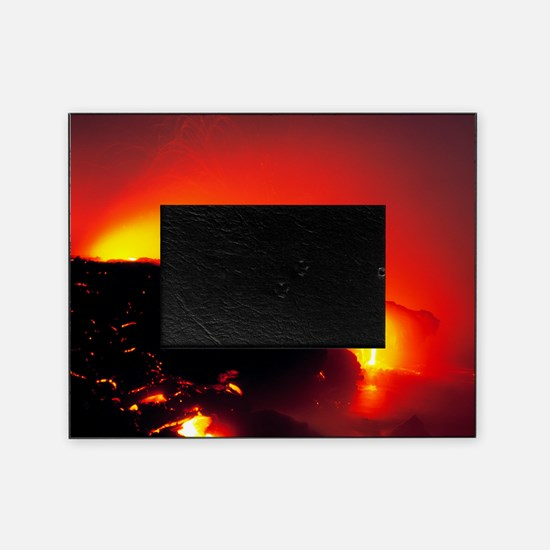 Lava flows Picture Frame