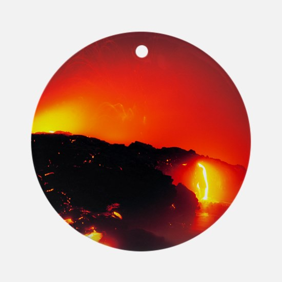 Lava flows Round Ornament