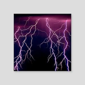 "Lightning in Rincon Mountai Square Sticker 3"" x 3"""