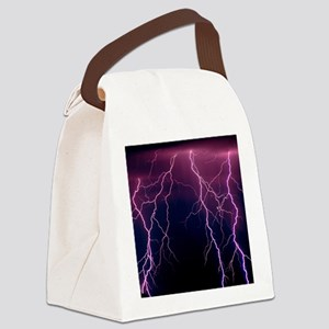Lightning in Rincon Mountains, Tu Canvas Lunch Bag