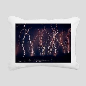 Lightning near Barstow,  Rectangular Canvas Pillow