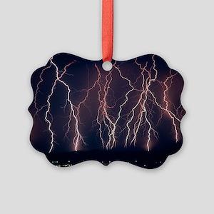 Lightning near Barstow, Californi Picture Ornament