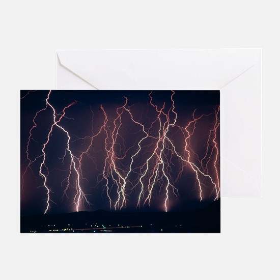 Lightning near Barstow, California Greeting Card