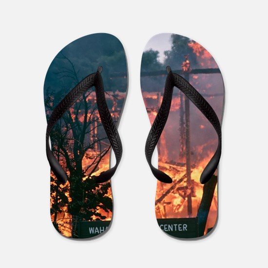 Lava flow destruction, Hawaii Flip Flops