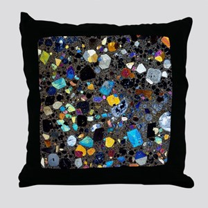 Leucite basanite, thin section Throw Pillow