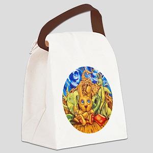 rabbitnightmare plug Canvas Lunch Bag