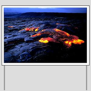 Lava flow Yard Sign