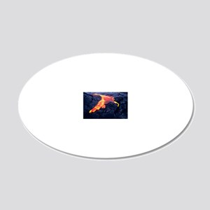Lava flow 20x12 Oval Wall Decal
