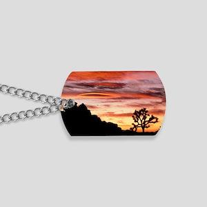 Lenticular cloud, Joshua Tree NM, sunset Dog Tags