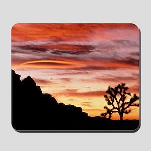 Lenticular cloud, Joshua Tree NM, sunset Mousepad