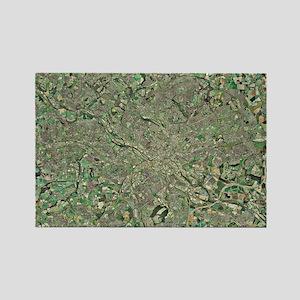 Leeds, UK, aerial image Rectangle Magnet