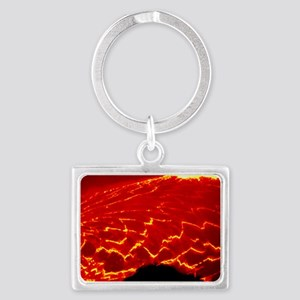 Lava lake covered with sections Landscape Keychain