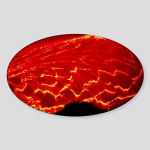 Lava lake covered with sections of  Sticker (Oval)