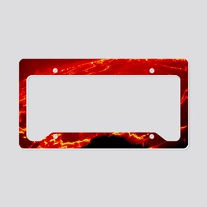 Lava lake covered with sectio License Plate Holder