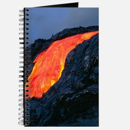 Lava flow from Kilauea volcano Journal
