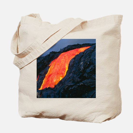 Lava flow from Kilauea volcano Tote Bag
