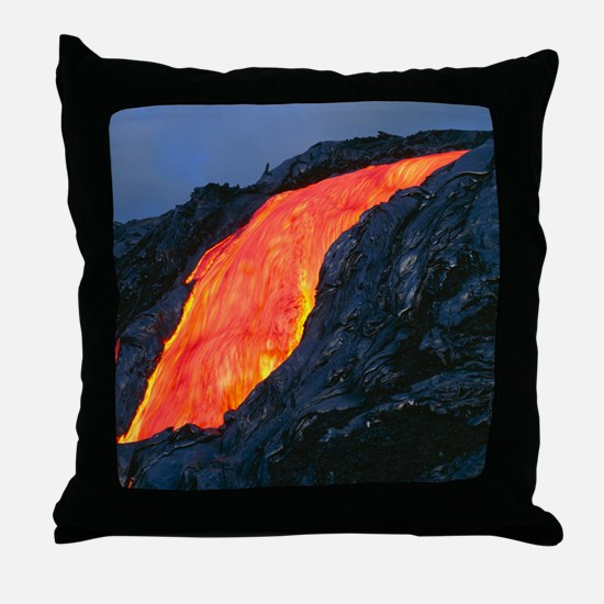 Lava flow from Kilauea volcano Throw Pillow